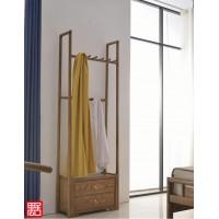 禺舍禅意新中式民宿家具:C03白蜡木衣帽架