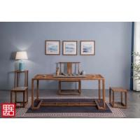 禺舍禅意新中式民宿家具:A03白蜡木办公桌