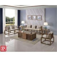 禺舍禅意新中式民宿家具:3001白蜡木沙发
