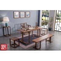 禺舍禅意新中式民宿家具:A05白蜡木茗韵茶桌