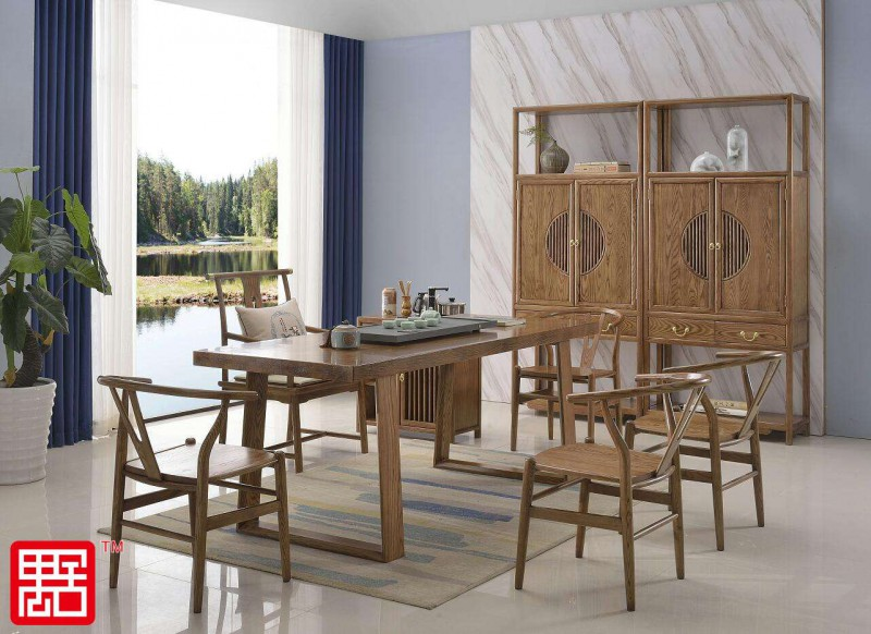 白蜡木大板实木茶桌