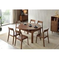 缘之林北欧白蜡木家具:跳台圆餐桌Z802#、餐椅(云椅)Y801#