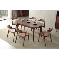 缘之林北欧白蜡木家具:长餐桌Z801#、餐椅(大牛头)Y803#