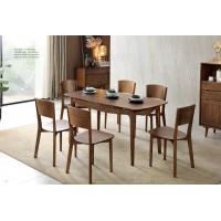 缘之林北欧白蜡木家具:长餐桌Z801#、餐椅(扇椅)Y802#