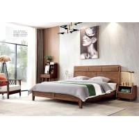 缘之林北欧白蜡木家具:床C802#