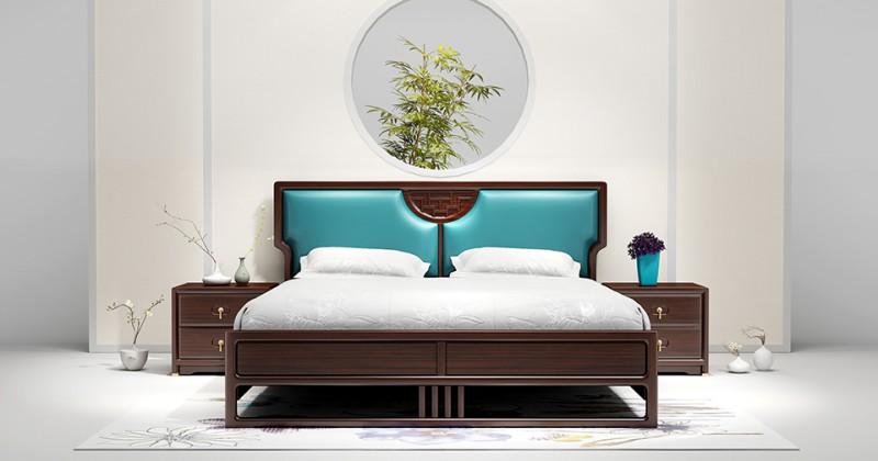 新中式床01