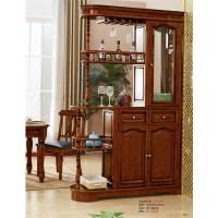 华夏国康美式复古胡桃色系列美式间厅柜GK028#