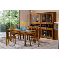 佐霖家具缅甸金丝柚木系列长条桌5006#、餐椅06#