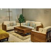 佐霖家具缅甸金丝柚木系列123沙发818#、长茶几206#