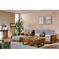 佐霖家具缅甸金丝柚木系列转角沙发8019#、长茶几206#