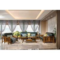 佐霖家具缅甸金丝柚木系列123沙发809#、长茶几205#