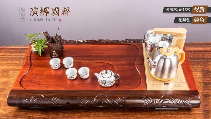 江西南康茶友轩实木茶台产品1