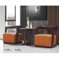 华民盛现代轻奢休闲椅E01、休闲桌A301