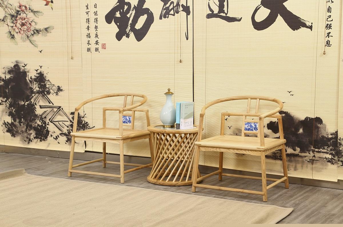 菲百年新中式禅意北美白蜡木家具16