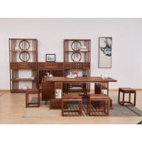 新中式禅意家具厂家,北美黑胡桃木家具、白蜡木家具,菲百年瓷木艺术家具招商加盟