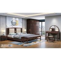 南康极简新中式家具,江西红橡木家具厂家,极简新中式套房,源邦欣荣家具
