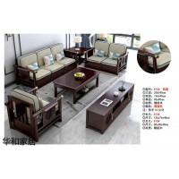 华和家居,新中式客餐两厅家具,南康规模化优质性价比新中式实木沙发厂家,江西华可家具有限公司