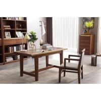 精致林胡桃木书桌椅5002