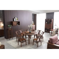 精致林胡桃木餐桌椅3003
