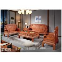 南康古典风格仿木家具,江西格木(印尼花梨)花梨色/酸枝红家具厂家,美家园家具