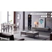 南康现代简约两厅家具,岩板餐桌椅,江西茶几、电视柜、餐桌椅厂家,鑫创家缘家具