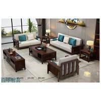 新中式实木家具,江西南康乌金木家具厂家,百年智芸现代东方家具,钱来也家具