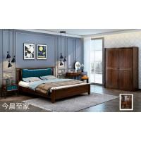南康轻奢新中式家具,江西轻奢新中式实木套房厂家,今晨至家品牌,一品家缘家具