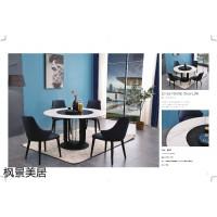极简轻奢风格餐桌椅,南康岩板餐桌,江西极简轻奢实木餐桌椅厂家,枫景美居家具