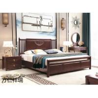 方仁祥瑞新中式套房家具,江西南康紫檀色新中式实木家具厂家,方仁家具有限公司