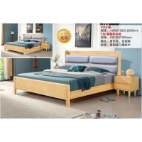 南康北欧橡胶木家具厂家,江西原木色、金胡桃色北欧实木套房招商,宏远家具
