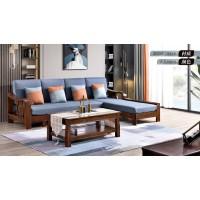 长乐家具北美胡桃色橡胶木602#沙发