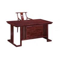 振玺家具赤金檀木时尚新中式H01#书桌、H03#书椅