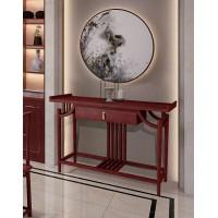 振玺家具赤金檀木时尚新中式H01#玄关桌