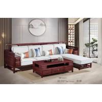 振玺家具赤金檀木时尚新中式H999#贵妃转角沙发