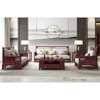 振玺家具赤金檀木时尚新中式H998A#沙发1+2+3