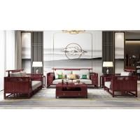 振玺家具赤金檀木时尚新中式H999#沙发1+2+3