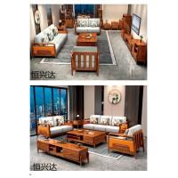 南康轻奢新中式家具厂家,江西胡桃色黄金梨木套房招商,恒兴达家具品牌,来达亿家具