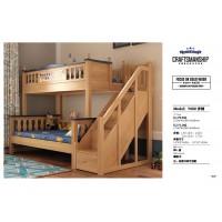 益志家具Y08#橡胶木步梯子母床
