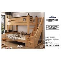 益志家具Y12#橡胶木步梯子母床