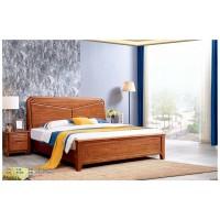 世华现代轻奢红檀木家具:2021#大床、008#床头柜