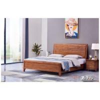 世华现代轻奢红檀木家具:2042#大床、003#床头柜