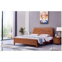 世华现代轻奢红檀木家具:2040#大床、003#床头柜