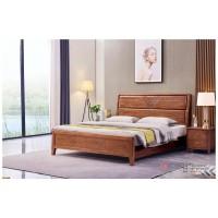 世华现代轻奢红檀木家具:2043#大床、003#床头柜