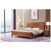 世华现代轻奢红檀木家具:2041#大床、003#床头柜