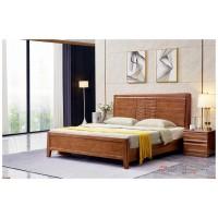 世华现代轻奢红檀木家具:2036#大床、005#床头柜
