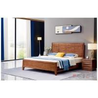 世华现代轻奢红檀木家具:2038#大床、005#床头柜