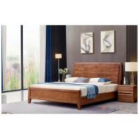 世华现代轻奢红檀木家具:2033#大床、005#床头柜