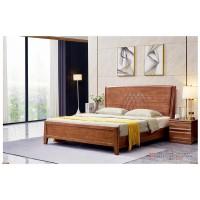 世华现代轻奢红檀木家具:2035#大床、005#床头柜