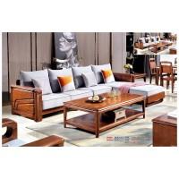 世华现代轻奢红檀木家具:9008#转角沙发、9006#长茶几