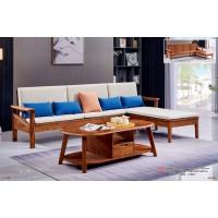 世华现代轻奢红檀木家具:9011#转角沙发、9008#长茶几
